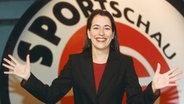 23.11.1999: Anne Will wird als Sportschau-Moderatorin vorgestellt © WDR Fotograf: Thomas Brill