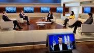 Anne Wll und ihre Gäste am 29.11.2020: Christian Lindner, Michael Müller, Vanessa Vu, Viola Priesemann und Markus Söder. (Bild: NDR/Wolfgang Borrs) © NDR/Wolfgang Borrs Foto: Wolfgang Borrs