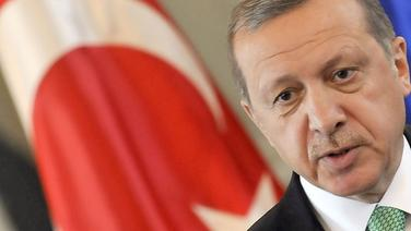 Der türkische Präsident President Recep Tayyip Erdogan in Ljubljana, Slowenien. © picture alliance Fotograf: Borut Zivulovic/FA Bobo/PIX..