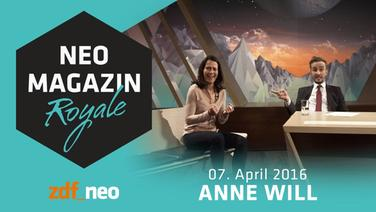 Anne Will am 7. April 2016 zu Gast im Neo Magazin Royale © ZDF