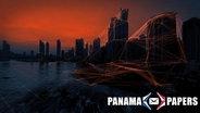 Verfremdete Skyline von Panama Stadt