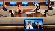 Moderatorin Anne Will und die Gäste der heutigen Sendung im Studio. © NDR/Wolfgang Borrs Foto: Wolfgang Borrs