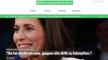 Screenshot der Deutschlandfunk Nova Website