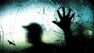 Ein Einbrecher versucht durch ein Fenster in eine Wohnung zu kommen. © imago stock&people