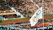 Trauerfeier bei den Olympischen Spielen 1972 in München © picture-alliance / dpa