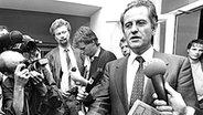 Ministerpräsident Uwe Baschel im Jahr 1987 © NDR/dpa - Honorarfrei, Verwendung nur im Zusammenhang mit der Sendung: Der Tod des Uwe Barschel