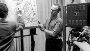 Die erste Wetterkarte wurde am 23.11.1951 im Fernsehen gezeigt. © NDR