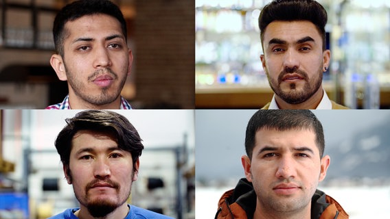 """Erst abgeschoben, dann über Arbeitsmigration wieder nach Deutschland eingereist: vier von """"Seehofers Afghanen"""" © NDR"""