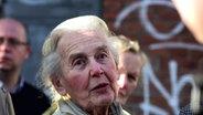 Holocaust-Leugnerin Ursula Haverbeck beim Prozess gegen Gröning.