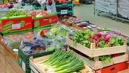 Gemüse im Supermarkt