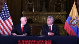 Mike Pence, Lenin Moreno © picture alliance / AP Photo