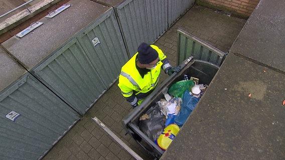 Professioneller Mülltrenner