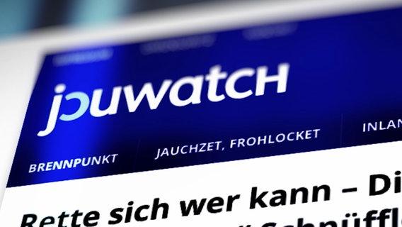 Die Seite jouwatch © NDR Foto: Screenshot