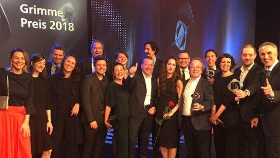 Mitglieder der Panorama-Familie bei der Grimme-Preis-Verleihung © NDR Foto: -