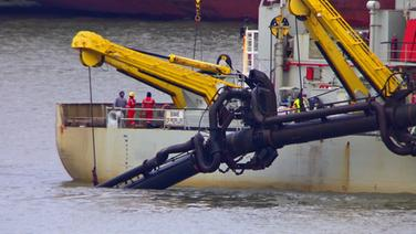 Belasteter Hafenschlick gefährdet Wattenmeer © NDR Fotograf: Julian Feldmann