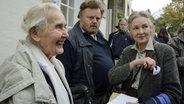 Die Rechtsextremistin Ursula Haverbeck © NDR Fotograf: Julian Feldmann