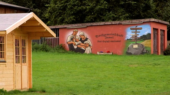 Ein Wandbild im Jamel. © NDR