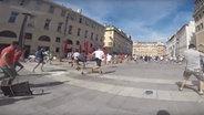 Russische Hooligans in Marseille.