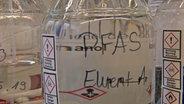 Ein Glasgefäs mit PFAS