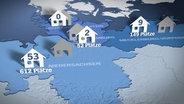 Grafik Kurzzeitpflege Norddeutschland © NDR Foto: Screenshot