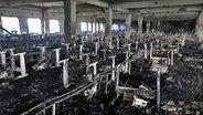 Verheerender Brand in Textilfabrik in Bangladesch.
