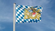 Flagge von Bayern © picture-alliance/chromorange Fotograf: Renate Krafft / CHROMORANGE