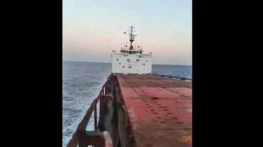 Video vom SchiffErweckt nicht den Eindruck der Seeuntauglichkeit.