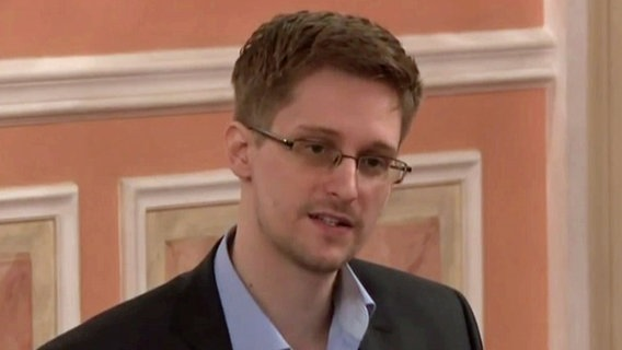 Edward Snowden in Moskau.
