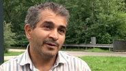 Mahar Hourani aus Syrien ist Zahnarzt und mit seiner Frau und drei Kindern in der Erstaufnahmestelle untergekommen