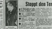 Zeitungsartikel: Stoppt den Terror der Jung-Roten jetzt!