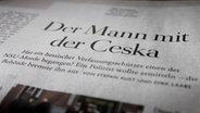 """Ausschnitt aus der Wochenzeitung """"Die ZEIT""""."""