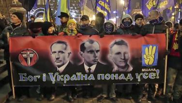 Plakat der Swoboda-Partei