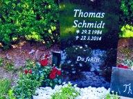 Das Grab von Thomas Schmidt