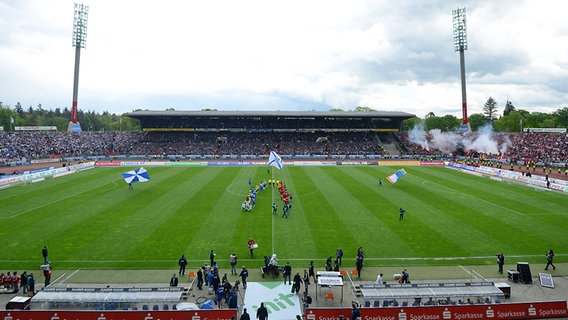 Das Wildparkstadion in Karlsruhe. © picture-alliance Foto: Markus Gilliar