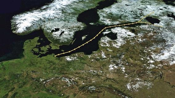 Nord Stream 2 © NDR Foto: Screenshot