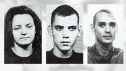 Das NSU Trio Beate Zschäpe, Uwe Mundlos und Uwe Böhnhardt.