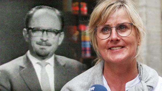 Panorama 60 Jahre: Gert von Paczensky (l.) und eine Zuschauerin (r.) in einer Bildmontage © NDR/ARD Foto: Screenshot