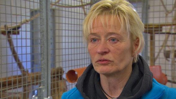 Katrin Umlauf, Leiterin der Station für exotische Tiere in Kappeln