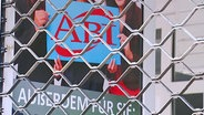 Schild mit der Aufschrift ABI