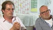 Marcus Wagner, Ingenieur und Reinhard Siegert (rechts), leitender Baudirektor Kreis Helmstedt