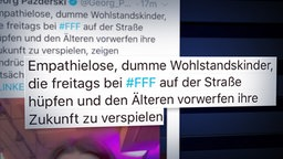 Tweet von Georg Pazderski © NDR Foto: Screenshot