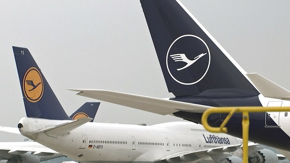 Flugzeuge der Lufthansa © NDR/ARD Foto: Screenshot