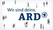 """""""Wir sind deins. ARD""""-Logo"""
